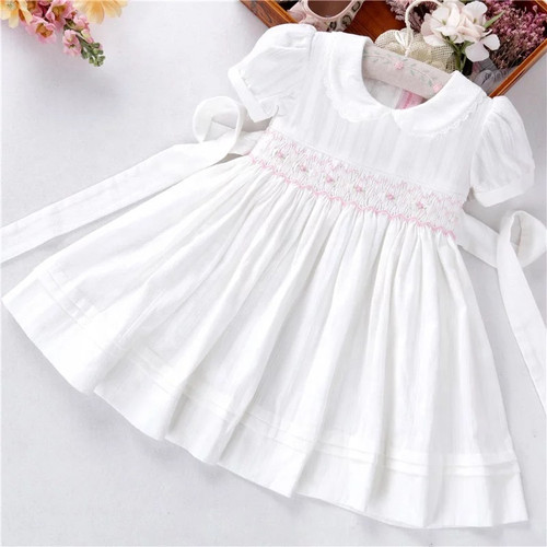 Toddler White Smocked Spring Dress