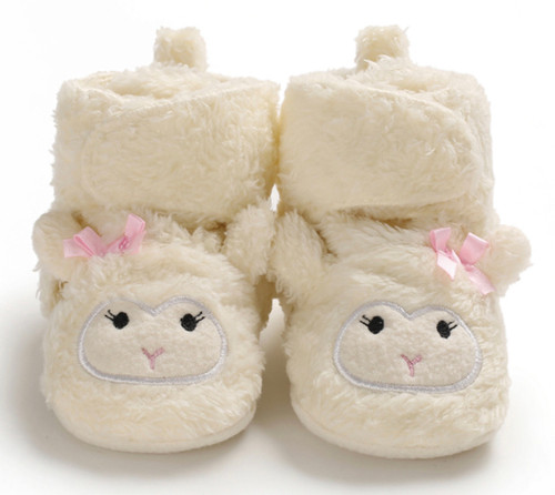 Fluffy baby slippers