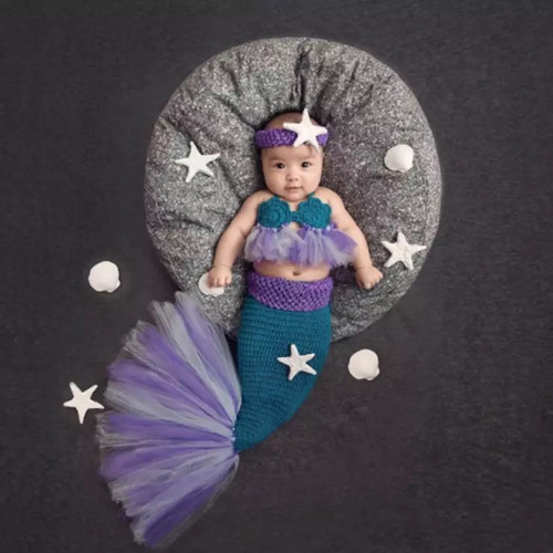 baby mermaid photography prop, summer photography prop baby