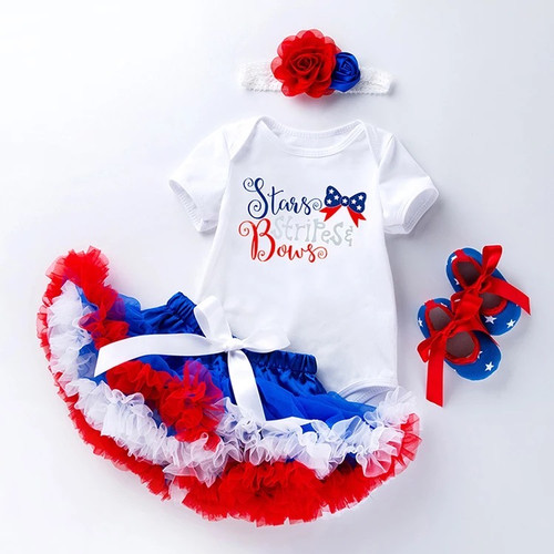 Baby Girl Patriotic Outfit