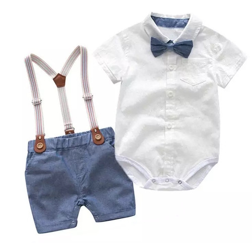 Baby Boy Formal Suspenders Outfit