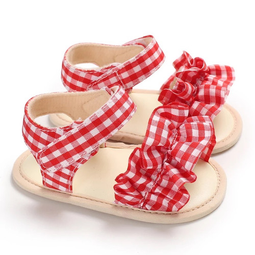 baby gingham sandals