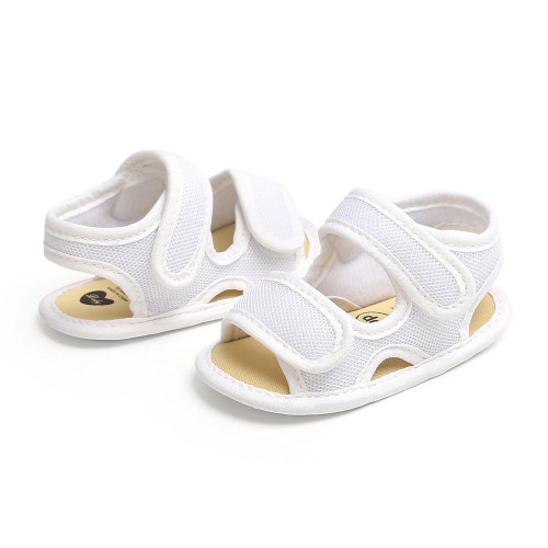 white baby soft-sole sandals