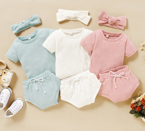 baby summer outfit with headband