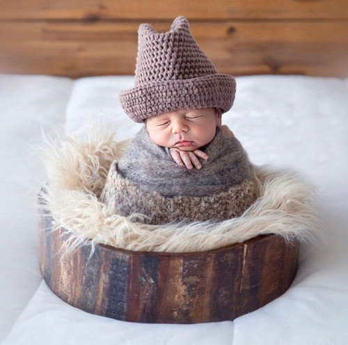 baby crochet western cowboy photography prop