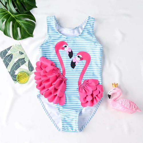 toddler flamingo swimsuit