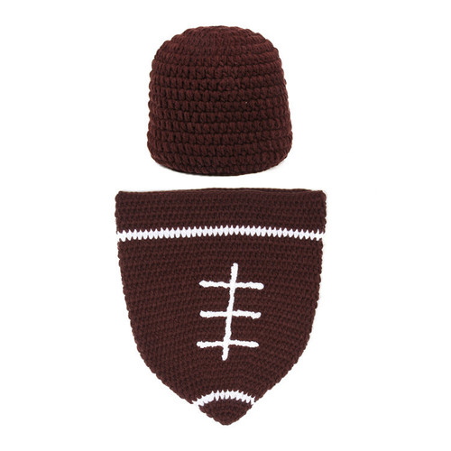 baby football crochet photography prop