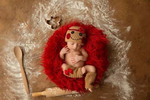 baby girl christmas crochet photography props