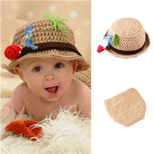 baby crochet fisherman outfit