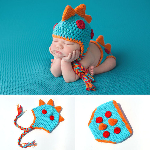 baby boy crochet dinosaur outfit