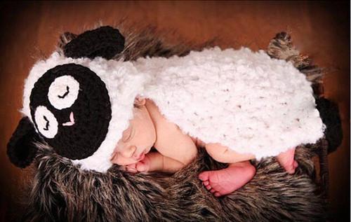baby sheep crochet photography prop