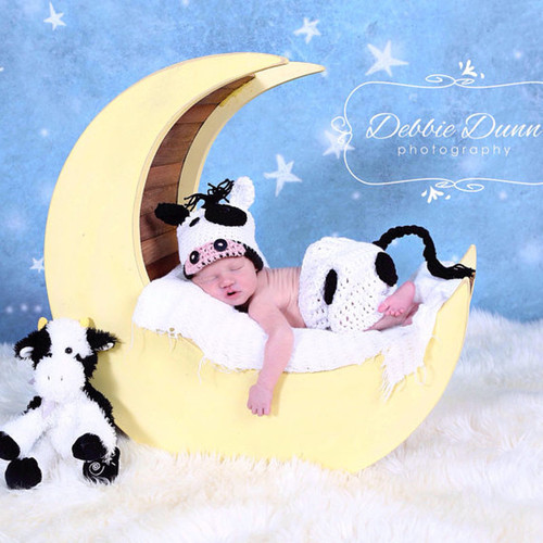 baby crochet cow photo prop