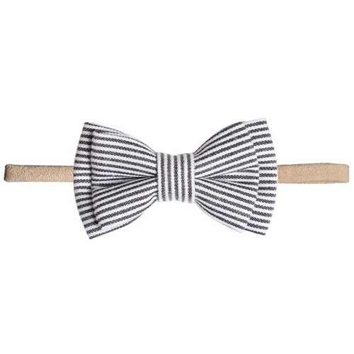 baby toddler newborn black and white striped bow