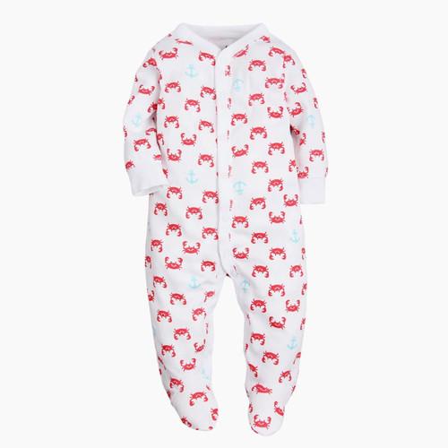 baby crab footie pajamas