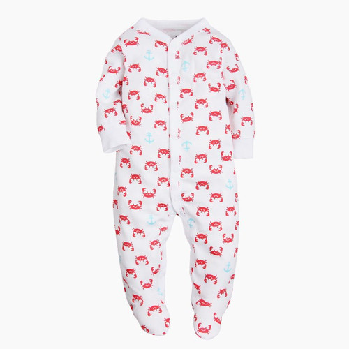baby crab footie pajamas