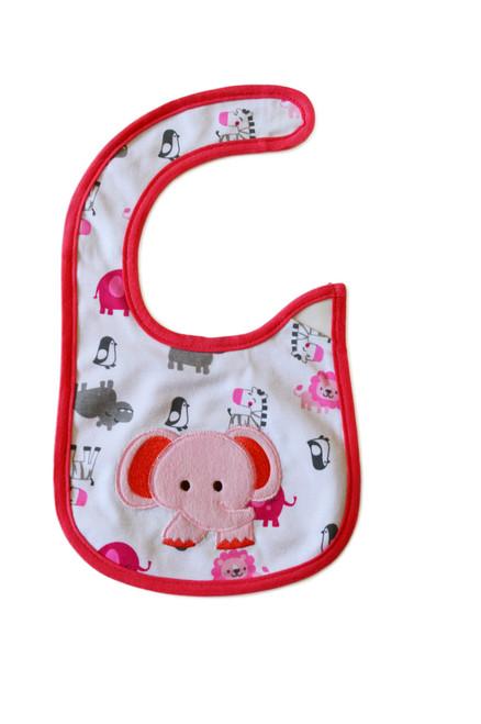 baby girl elephant baby bib