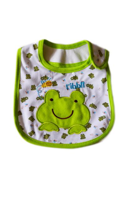 frog baby bib