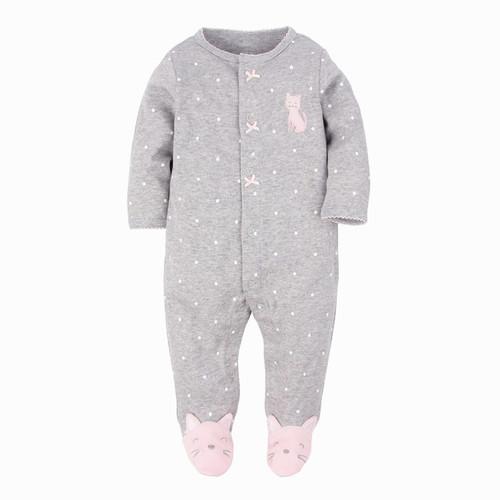 baby girl kitty footie pajamas