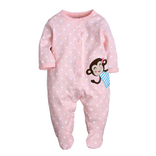 baby girl monkey print pajamas