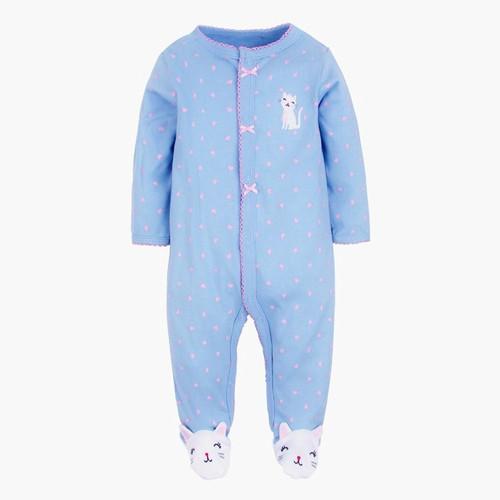 baby kitty footie pajamas