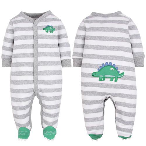 baby dinosaur footie pajamas