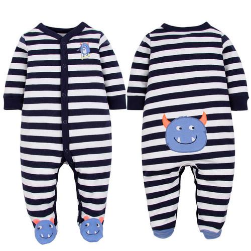baby monster footie pajamas