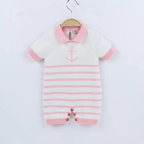 baby knit sailor romper
