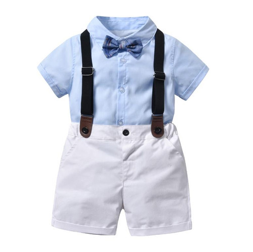 baby boy blue linen shirt