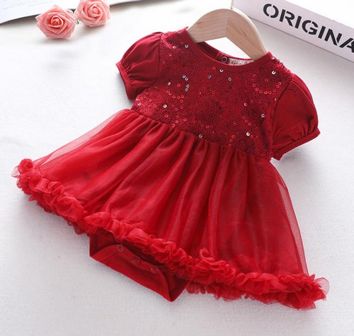baby red christmas dress