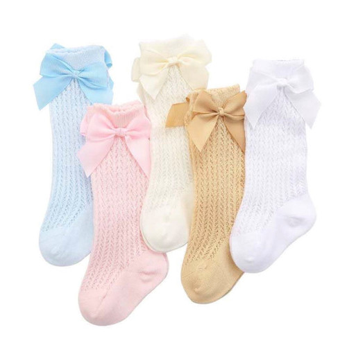 baby girls knit knee high socks