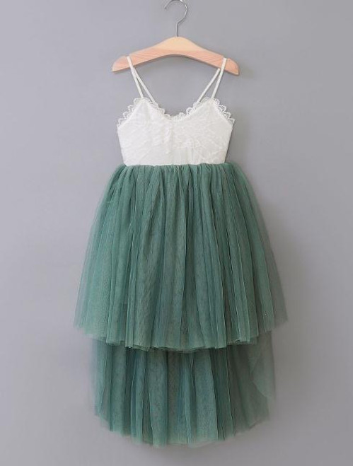 girls sage jade green flower girl dress