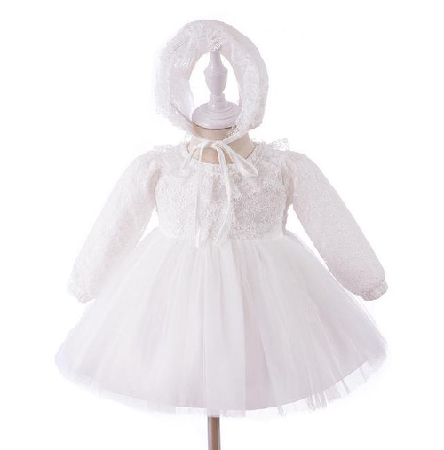 baby long sleeve baptism dress