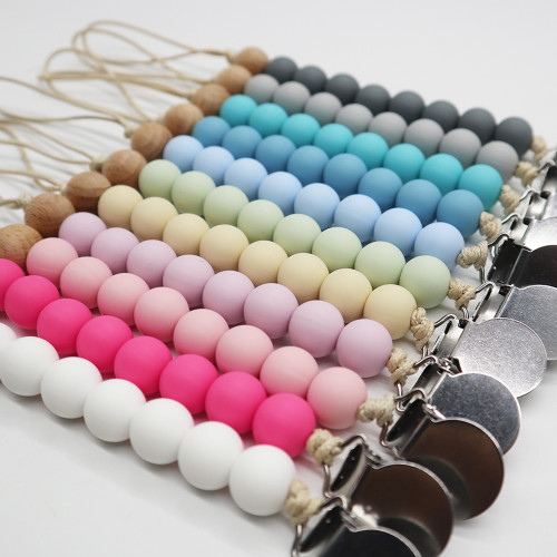 baby silicone pacifier clip