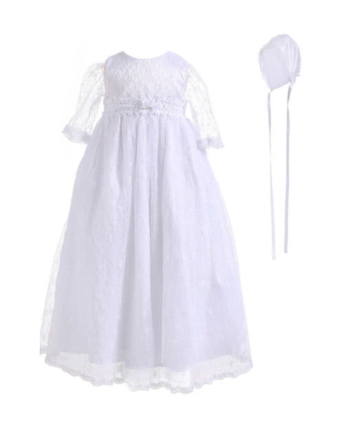 Baby long sleeve baptism dress