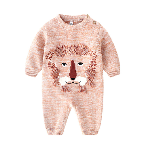 baby boy lion romper