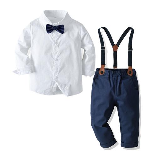 baby boy navy suspenders set