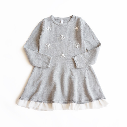 toddler grey snowflake dress