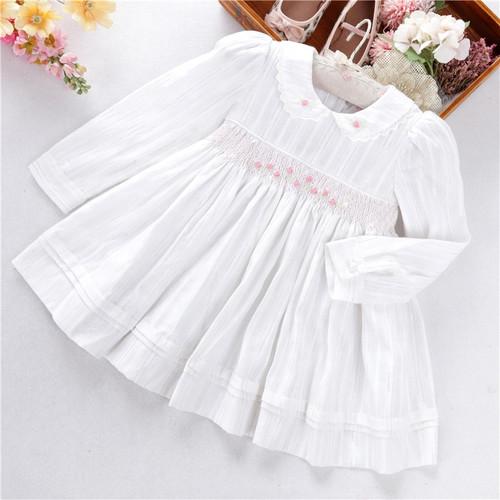 baby girl white smocked dress