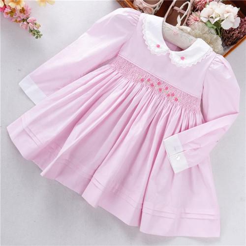 baby girls pink smocked dress