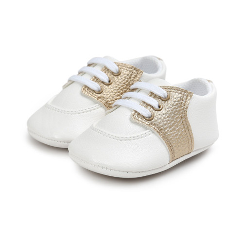 baby gold saddle shoes
