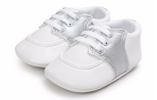 baby girl silver oxfords