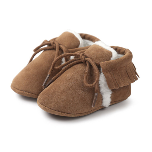 baby moccasins with fur