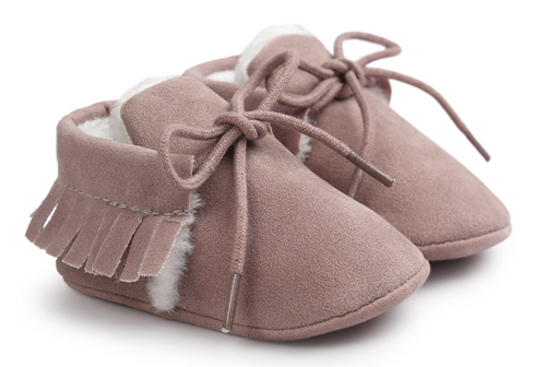 baby girl pink moccasins