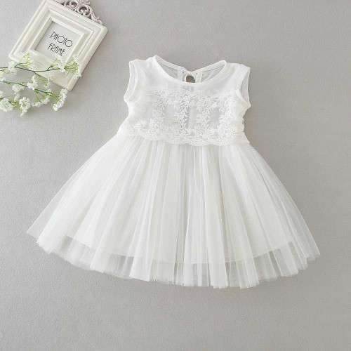 baby sleeveless baptism dress