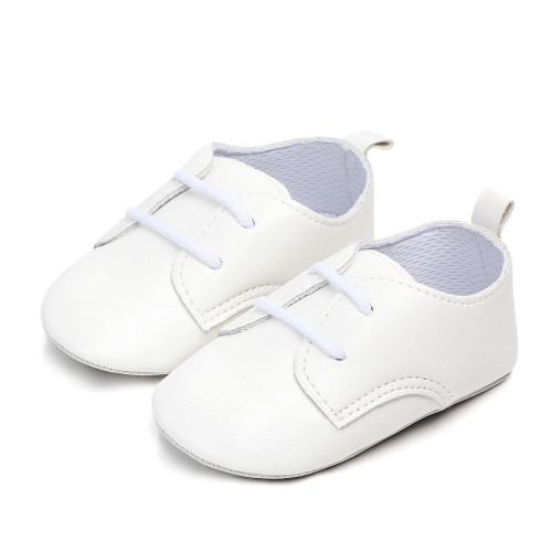 white baby matte shoes