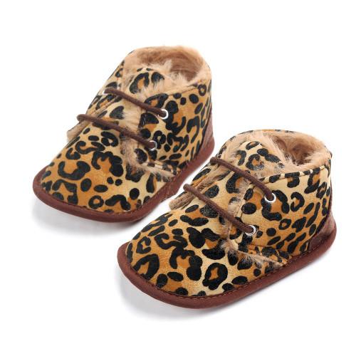baby girl cheetah print boots
