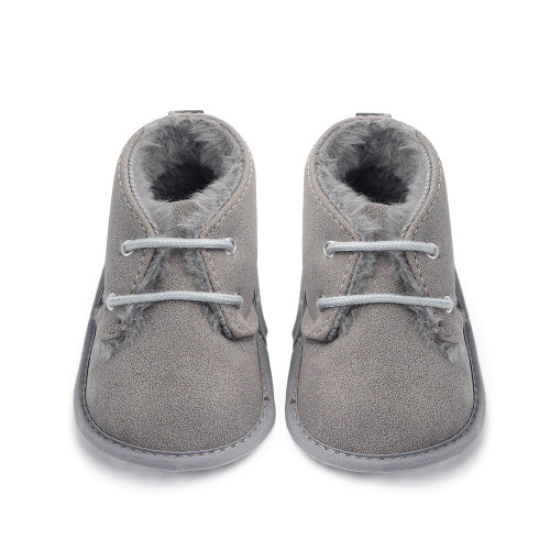 baby grey winter boots