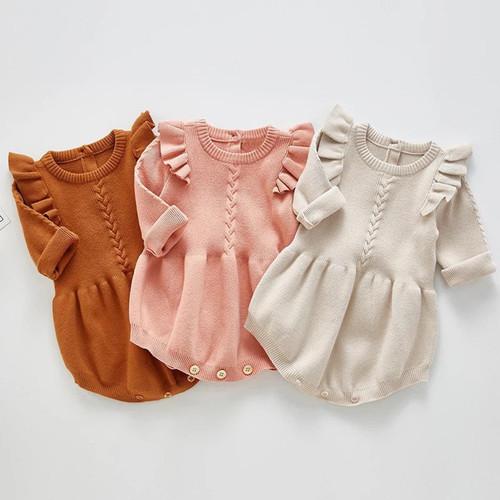 baby girl sweater romper