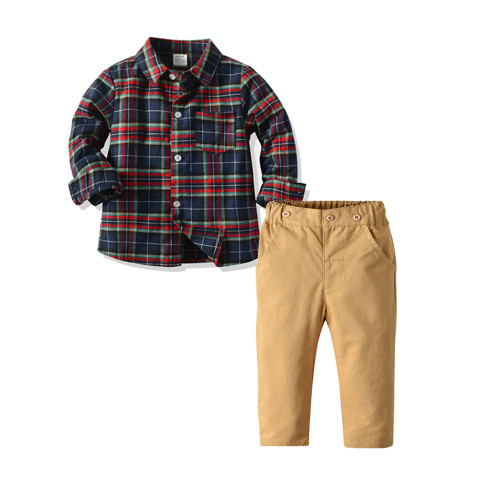 baby boy plaid outfit
