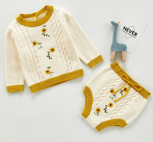 baby girls sunflower outfit
